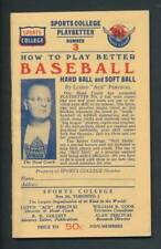 Vintage Sports College -How to Play Better Baseball Booklet  Playbetter Number 3