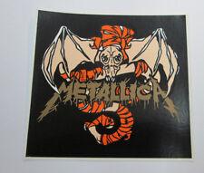 Metallica Sticker 90'S Metal Super Large Collectible Rare Vintage