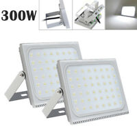 2X 300W Slim LED Floodlight Outdoor Security Lamp Super Bright Spot Cool White