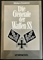 DIE GENERAL DER WAFFEN-SS, N. Preradovich, German Text!, $39.00!