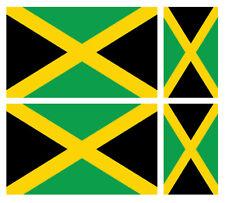 4 X JAMAICAN JAMAICA FLAG VINYL CAR VAN IPAD LAPTOP STICKER