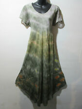 Dress Fits 1X 2X 3X 4X Plus Sage Green Lace Sleeve Long Tunic A Shaped NWT G802