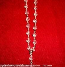 Sphatik Mala / Diamond Cutting Spahtik Mala - 55 Bead - In Silver - Certified