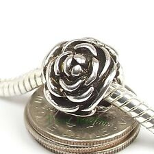 Rose Flower Charm Interchangeable Large Hole Bead Slider for European Bracelet