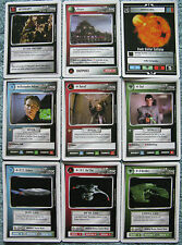 Star Trek CCG Premiere Complete Common Set of 121 Cards (White Border Beta)