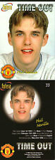 FUTERA 1998 MANCHESTER UNITED PHIL NEVILLE TIME OUT CARD NUMBER 33