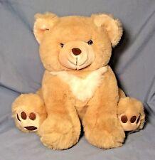"""Vintage America Wego 12"""" Beige Sitting Bear Stuffed Plush Teddy Korea EUC CUTE!!"""