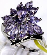 Rose De France Amethyst Ring Platinum Overlay Sterling Silver (Size 7) 3.38 Cts