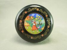 Hallmark Cards Woman Feeding Chickens Image Lidded Stationary Container