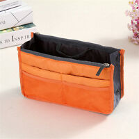 Women Organizer Handbag Travel Bag Insert Liner Purse Organiser Large Tidy Pouch