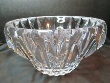 "Lead Crystal Center Piece Bowl Almost 11 Lbs 9 3/4"" Deep Cut Design 5 3/4"" Tall"