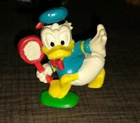 Disney 1970s Donald Duck Playing Tennis PVC Figure