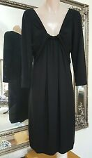 Veronika Maine black stretch jersey shift dress.Sz8.Md in Aus.Euro fabric.As new