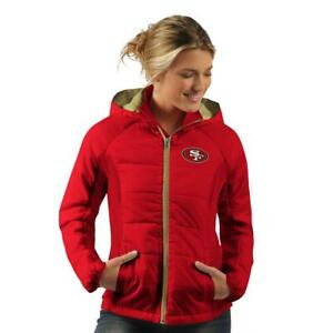 Officially Licensed NFL Women's Rundown Polyfill Hooded Jacket by Glll 612871-J