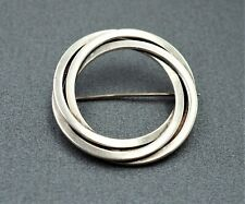 Mens Womans Sterling Silver Knot Brooch Hermann Siersbol Denmark Scandinavian