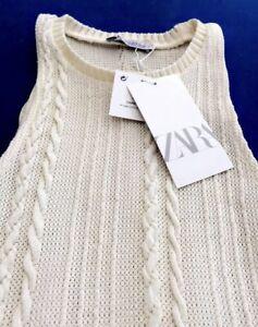 Zara Cream Pencil Dress Size 10