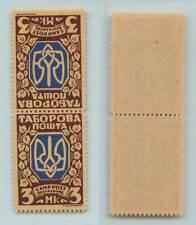 Ukraine 1948 3.00 mint teche beche pair Displ Persons Camp Tabor. Poshta . f7985