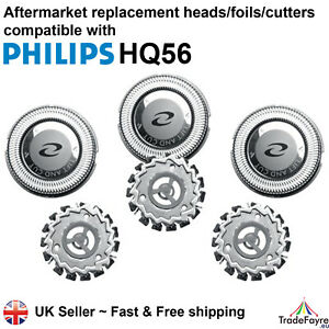 AFTERMARKET PHILIPS HQ56 HEADS/FOILS/CUTTERS - Philishave