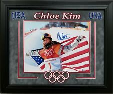 CHLOE KIM SIGNED 11X14 2018 OLYMPICS SNOWBOARDING GOLD MEDALIST BECKETT COA