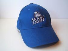 Moose Light Beer Hat Blue Moosehead Hook Loop Baseball Cap