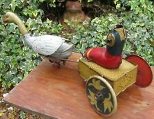 Walter Stock Germany swan goose  clockwork unique wheels / paint variant bing