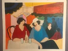 """Woman at Cafe""~ Tarkay Itzchak  ~ Signed & numbered serigraph 349/350"