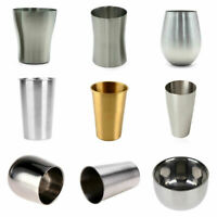150-550ML Stainless Steel Metal Beer Cup Wine Cups Coffee Tumbler Tea Milk Mug