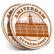 2 x Coasters - Amsterdam Netherlands Travel Home Gift #4295