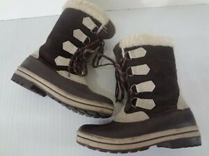 Women's Polar Edge Size 8 Insulated Thinsulate Winter Snow Boots Suede Fur Trim