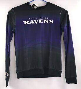 NFL Team Apparel Men Medium Baltimore Ravens Crew Neck Sweater New with Tags