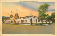 Indianapolis Indiana~Cadle Tabernacle~1940s Linen Postcard