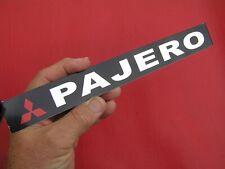 Mitsubishi Badge Chrome Plastic Script With Diamond 6 Inch 150mm Car Emblem