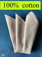 men's cotton handkerchief / new / light grey