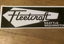Fleetcraft camper Travel Trailer Vintage Style Repro decal black & white 11""