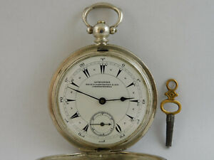 orologio da tasca  funziona LONGINES NACIB  silver pocket watch working A265