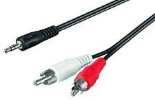 Kabel Klinken Stecker 3,5mm auf 2x Cinch Stecker 15,0m