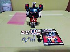 Transformers G1 Original Complete Trailbreaker Decal Instructions Fists Pre rub