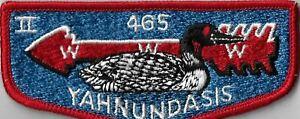 OA Yahnundasis Lodge 465  Flap RED Bdr. Upper Mohawk, NY [MX-7826]