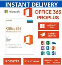 2020,Microsoft Office 365 Pro Plus,2020 License Account Mac Win Mobile 5 TB