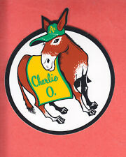1969   ATHLETICS   TEAM ISSUE    CHARLIE O   MULE  STICKER  NM/MT