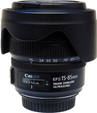 Canon EF-S 15-85mm F3.5-5.6 IS USM Lens and EW-78E hood