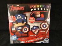 Cardinal Marvel Avengers Captain America Pixels Puzzle - New In Box NIB