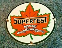 VINTAGE SUPERTEST GASOLINE PORCELAIN GAS STYLE SERVICE STATION PUMP PLATE SIGN