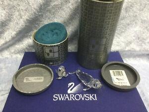 Swarovski Large & Baby Seal Silver Whiskers 7646085000 & 7663046000. MIB