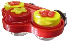 Triple Window Nectar DOTS Yellow and Red HummingBird Feeder - Free Shipping
