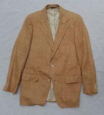 CHIPP true vintage 60s tan silk tweed three 3 button blazer sport coat jacket 40
