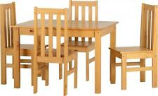 LUDLOW Dining Set in Oak Effect with 4 Chairs  Free Delivery