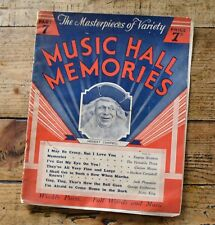 Music Hall Memories Part 7 Sheet Music & History of Variety - Herbert Campbell