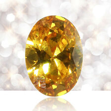 10pcs Gem Oval Shape Yellow Sapphire Natural Loose Gemstone Jewelry Gifts FT