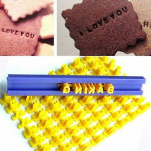 Biscuits Baking Printing Alphabet Mold Cookies Cutter Word Press Stamp Mould